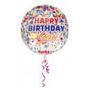 wholesale Food & Beverage: Orbz Happy Birthday Confetti transparent Folienba