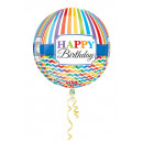 Großhandel Nahrungs- und Genussmittel: Orbz Happy Birthday Bright Stripe & Chevron ...