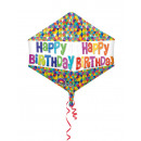 wholesale Food & Beverage: Anglez Happy Birthday Geometric Modern Foil Balloo