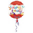 wholesale Food & Beverage: Standard Glitter Happy Birthday foil balloon verpa