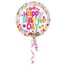 Szabványos Happy Birthday Flower Foil Balloon Pack