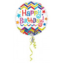 wholesale Food & Beverage: Standard Chevron Star Happy Birthday Foil ...