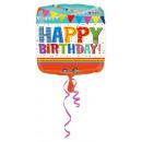 mayorista Alimentos y bebidas: Globo de papel de Happy Birthday estándar brillant