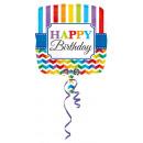 Standard Stripes y Chevron Happy Birthday Folieba