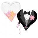 Corazón de recién casados de SuperShape envuelto