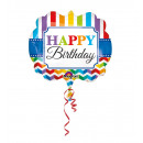 wholesale Food & Beverage: SuperShape Happy Birthday Bright Stripe & Chev
