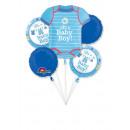 Bouquet 'Shower With Love Boy' 5 Folienballons, ve