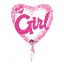 Multi Balloon Baby Girl fólia léggömb csomagolt 91