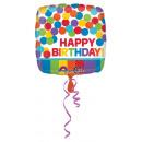 wholesale Food & Beverage: Standard Happy Birthday colorful foil balloon squa