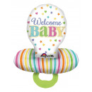 wholesale Baby Toys: Multi Balloon Baby Pacifier Foil Balloon P55 verp