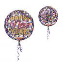 Orbz Szczęśliwego Nowego Roku disco balonu folii b