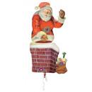 Multi-balloon Santa in the fireplace foil balloon
