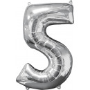 26 '' Silver 5 'Foil Balloon, Packed,