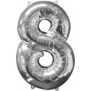 26 '' silver-8 'foil balloon, packed,