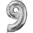 26 '' Silver 9 'Foil Balloon, Packed,