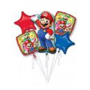 groothandel Woondecoratie: Boeket Mario Bros 5 folie ballonnen verpakt