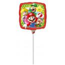 9 'Mario Bros foil balloon square loose 23 cm