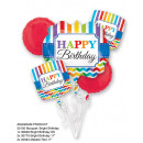 Boeket 'Bright Birthday' 5 folie ballonnen