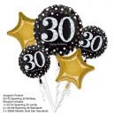 Bouquet 'Sparkling Birthday 30' 5 ballons,