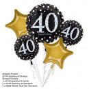 Bouquet 'Sparkling Birthday 40' 5 ballons,