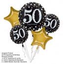 Bouquet 'Sparkling Birthday 50' 5 ballons,