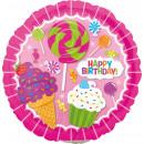 9 'Sweet Shop Birthday Foil Balloon Round Loos