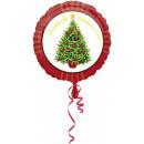 Standard Boldog Karácsonyi Fólia Balloon Round v