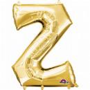 SuperShape Buchstabe Z Gold Folienballon L34 verpa