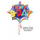Multi-balloon 'Happy B-day' foil balloon,