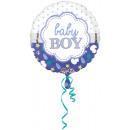 Szabványos Baby Boy Shell Fólia Balloon, Round, Pa
