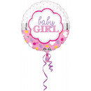 Standard Baby Girl Shell Fólia léggömb, kerek, ver