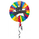 Standaard Juhu geslaagd folieballon rond verpakt