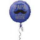 Standard Papa du bist der Beste Folienballon Rund