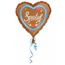 Standard Spatzl fóliás ballon szív 43 cm-es csomag