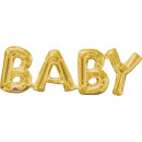 SuperShape Word 'Baby' Gold Foil Balloon P