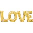SuperShape Word 'Love' Gold Foil Balloon P
