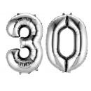 Numéros de grappe 3-0 argent 2 ballons de fleuret