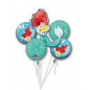 Bouquet ' Ariel Dream Big' 5 foil balloons