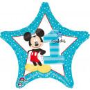 Standard 'Micky - 1st Birthday' Folienballon Rund,