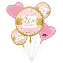 Bouquet 'Sparkling Wedding' 5 foil balloon