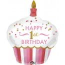 SuperShape '1st Birthday Cupcake - Mädchen' Folien