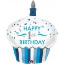 SuperShape '1st Birthday Cupcake - Junge' Folienba