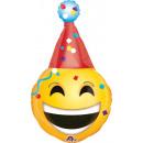 SuperShape 'Emoticon - Party Hat' Foil Bal