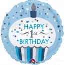 Standard '1st Birthday Cupcake - Junge' Folienball