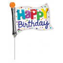 Mini Shape ' Happy Birthday - Banner' Foil