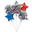 Bouquet ' Avengers ' 5 foil balloons, pack
