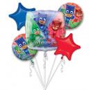 Bouquet 'PJ Masks' 5 Folienballons, verpackt