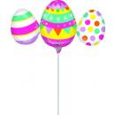 Mini Shape 'Eggs Trio' foil balloon, loose
