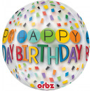 Orbz ' Happy Birthday Rainbow' Foil Balloo