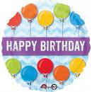 Standard 'Happy Birthday mit Ballons' Folienballon